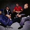 25.1997明星週 Barkley 與 Clyde Drexler、 Isiah Thomas 以及 Wilt Chamberlain 相聚
