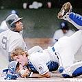 1995 - Bernie Williams (左) 與 Brent Mayne