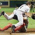 2002 - Craig Biggio (上) 與 Mike DiFelice
