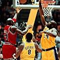 Michael Jordan (28.74) vs. Shaquille O'Neal (28.32)