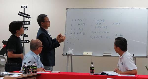 INAC神戶女足會長文弘宣(左三)為台灣女足成立聯賽提供建議