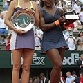 法網女單冠軍Serena Williams、亞軍Maria Sharapova