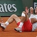 Rafael Nadal激動倒地