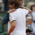 Nadal與Ferrer擁抱