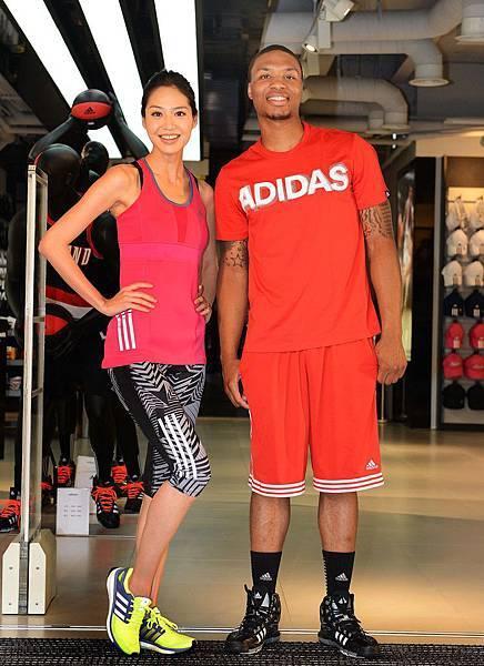 adidas忠孝旗艦店開幕活動特別邀請NBA年度新人王Damian Lillard來台擔任開幕嘉賓,並由藝人白歆惠擔任旗艦店開幕大使