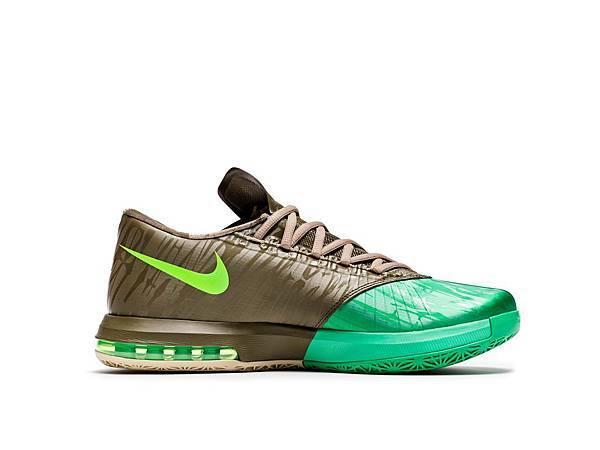 Nike KD VI超薄雙層鞋面採用Nike獨有的Flywire技術,為雙腳提供鎖定支援