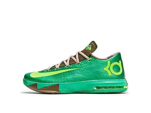 Nike KD VI Bamboo鞋身採用竹葉的紋理作為點綴