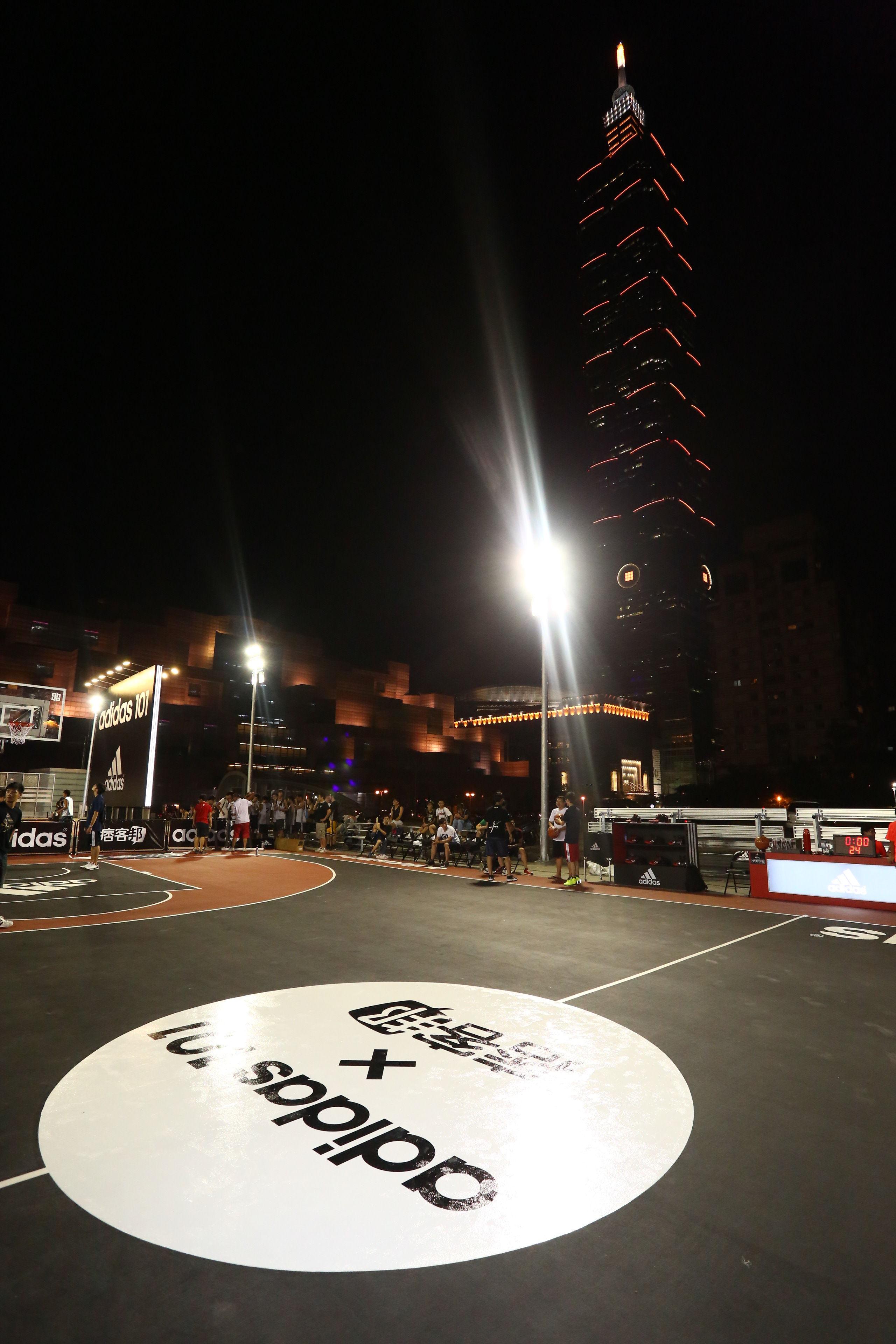 adidas101 x 痞客邦 籃球之夜 (4) 打球之餘可以邊欣賞101夜景