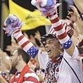 美國隊球迷裝扮用心