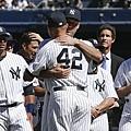 Rivera與Jeter擁抱