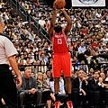 Rockets James Harden takes 3-point shot