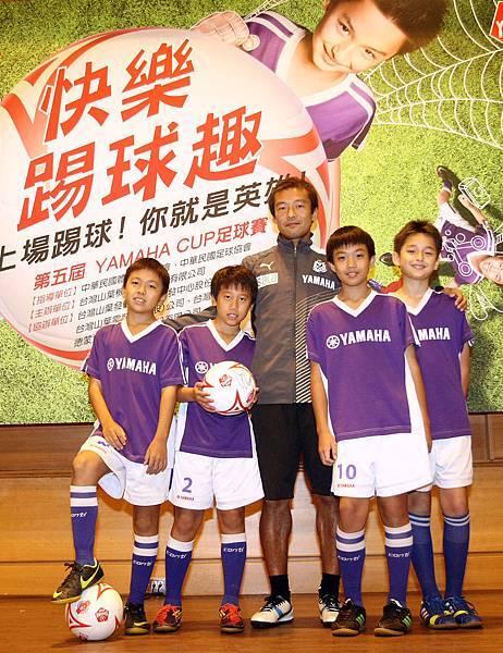 【YAMAHA CUP】日本JUBILO磐田足球隊教練茶野隆行勉勵上屆北區出線隊伍天母足球社球員再進決賽  1月11日高雄三民家商決賽見