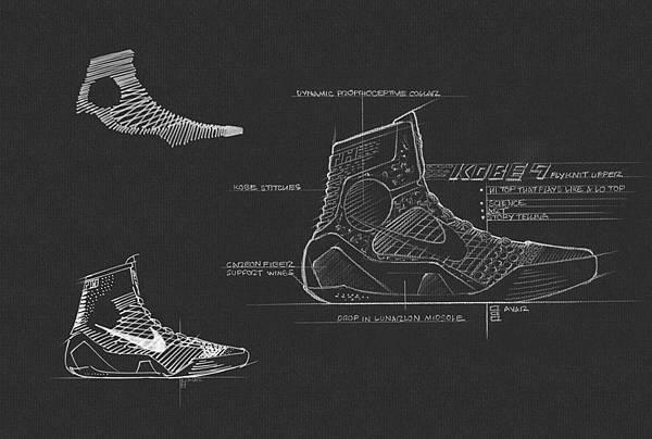 "Nike公司總裁兼首席執行長Mark Parker表示:""Kobe 9 Elite不僅結合力量與強度,其柔韌性以及輕量靈活的材質更重新定義了籃球鞋,同時開創了一個全新的運動鞋製作理念"