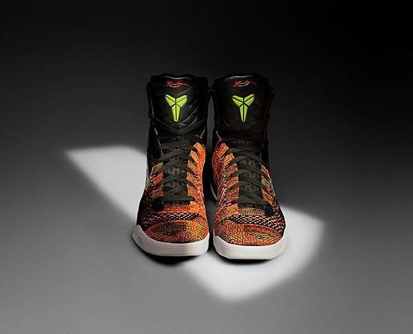 Kobe 9 Elite透過Nike Flyknit技術勾勒出具有視覺衝擊感的迷人圖案