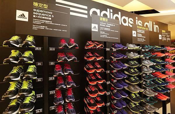 專業跑鞋租借試跑 提供adidas台北馬拉松限定跑鞋 Supernova Sequence 6、adizero Boston 4、adidas革命性中底科技Energy BOOST以及adizero Takumi 匠系列跑鞋