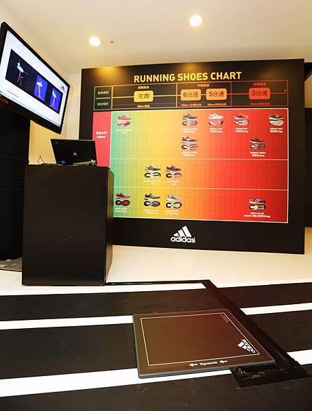 footscan足型檢測 透過電腦剖析出個人足型特色 由現場跑鞋專家協助解說分析 進而找到適合自己的跑鞋