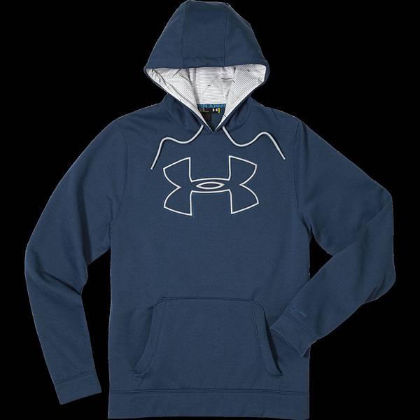 UA CG Storm 防潑水刷毛連帽套頭衫_藍色