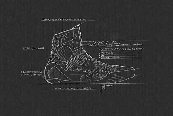 Kobe 9 Elite以Nike Flyknit打造出無縫的編織鞋面,帶來極致輕盈,同時在最需要的部位集合了優良的透氣性、延展性和支撐力