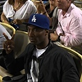 NBA球星Kobe Bryant場邊觀看道奇隊比賽