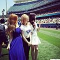 少女時代蒞臨道奇「韓國日」