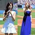 太妍、Tiffany分別演唱韓國和美國國歌