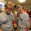 波士頓紅襪慶祝殺入ALCS