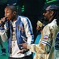 表演彩排Pharrell Williams,Snoop Dog