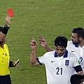 Kostas Katsouranis遭罰紅牌