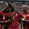 Asamoah Gyan替迦納取得2-1領先