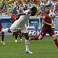 Asamoah Gyan幫助迦納追平比數