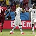 迦納球員慶祝進球