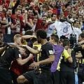 比利時慶祝以小組第一之姿晉級16強