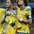 賽前巴西隊帶著Neymar球衣出場