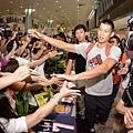 林書豪抵達機場