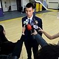 林書豪接受媒體聯訪