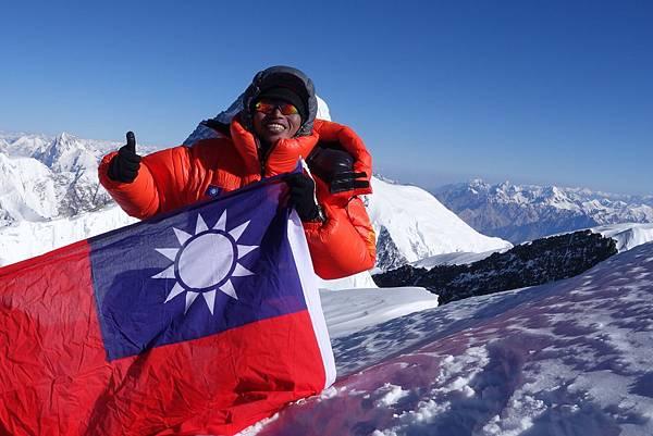 呂忠翰是本次最快登頂隊員,也是去年迦舒布魯II峰登頂隊員,連續兩年完攀兩座八千米級巨峰,目前台灣登山家完攀2座八千米級巨峰僅7人,締造輝煌紀錄