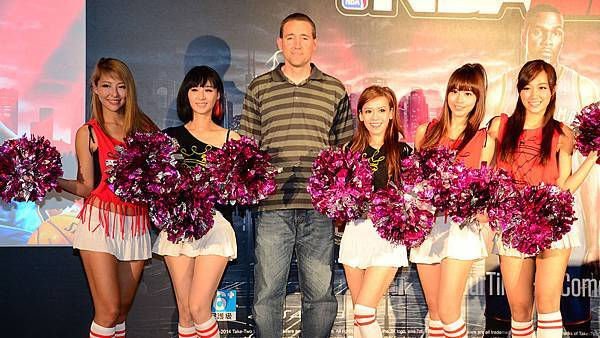 Erick with cheerleaders