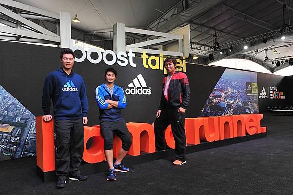 1.adidas邀請三大球星李振昌、羅嘉仁、詹智堯齊聚跑步博覽會,首度同台冬訓增強戰力。