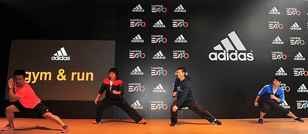5.adidas邀請專業教練親自指導由日本獨家引進的Gym and Run肌耐力訓練課程讓三位球星體驗完整且扎實的跑步冬訓,為三大球星增強戰力。