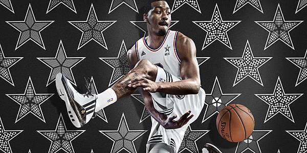 4.adidas 代言球星 John Wall 被票選為 NBA All-Star 2015 東區先發