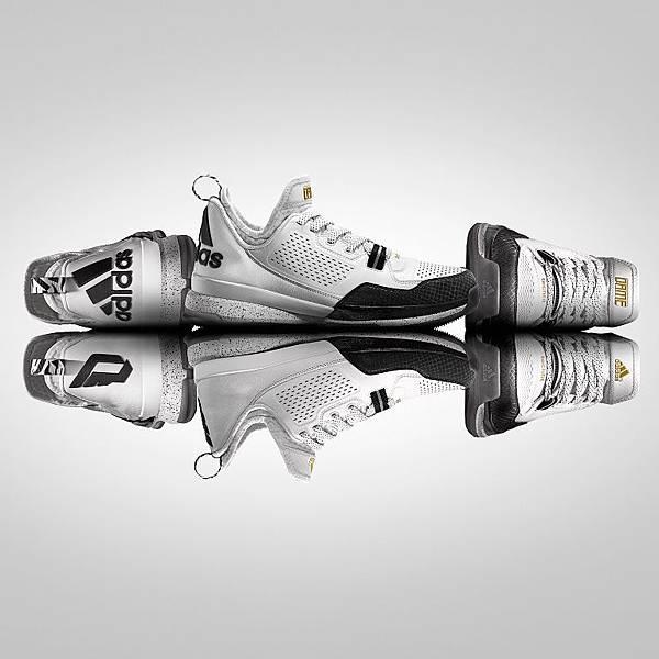 "4.adidas NYC All-Star系列鞋款 D Lollard 1在簡潔的白色鞋面上,以黑色偌大的""DL""縮寫組成的個人標誌,並以鞋墊上Damian Lillard親自寫下的Rap向偉大的紐約市致敬"