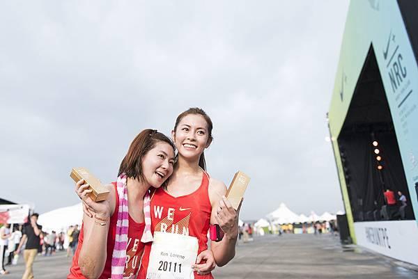 Selina任家萱今年陪同妹妹任容萱一起挑戰,也成功突破個人最佳10公里紀錄。