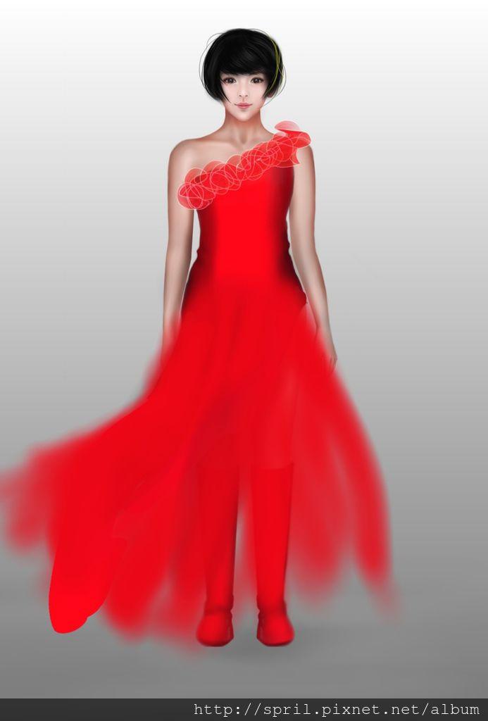 笑傲江湖-大紅禮服-未完成