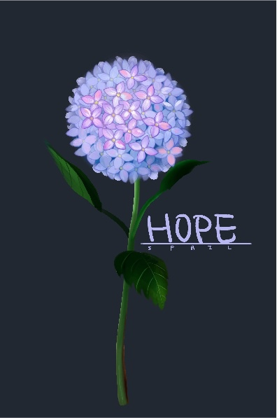 spril畫的繡球花
