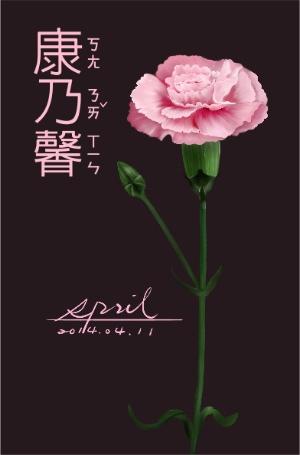 SPRIL-花草系列畫冊-康乃馨