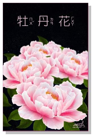 SPRIL-花草系列畫冊-牡丹花
