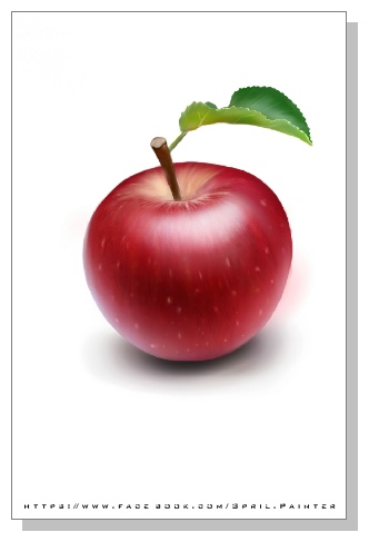 Spril的畫-臨摹蘋果