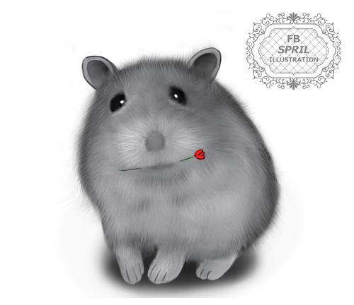 小倉鼠布丁(SPRIL繪製)