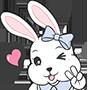可愛的小吃貨金元寶兔兔表情貼上架囉!!