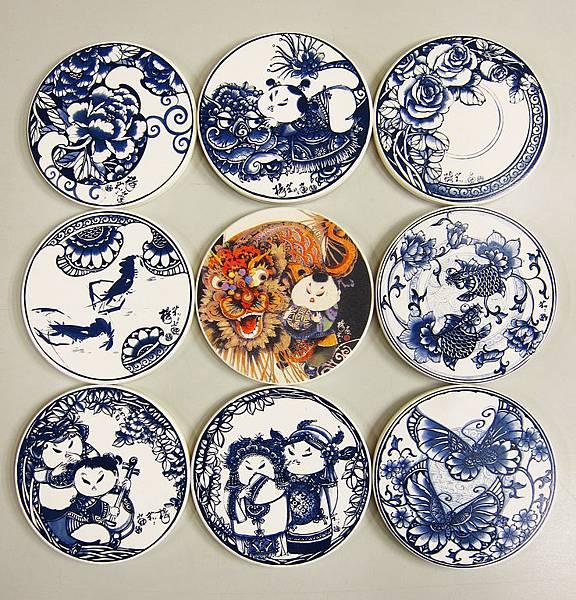 陶瓷吸水杯墊-青花藍.jpg